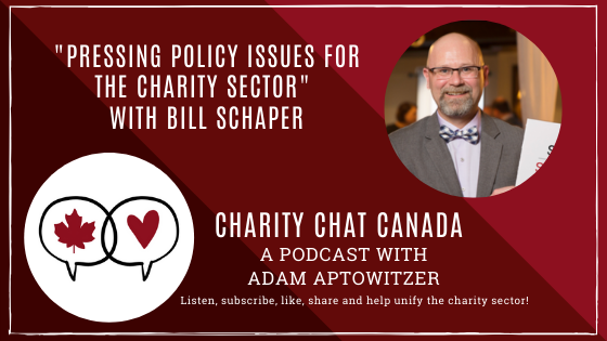 """Pressing Policy Issues for the Charity Sector"" with Bill Schaper"